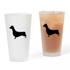 Dachshund Silhouette Drinking Glass