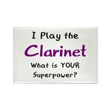 play clarinet Rectangle Magnet