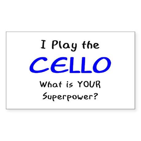 play cello Sticker (Rectangle)
