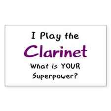 play clarinet Decal