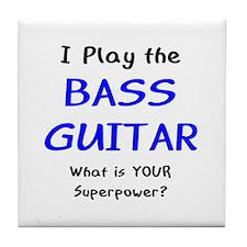 play bass guitar Tile Coaster