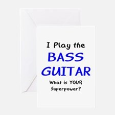 play bass guitar Greeting Card