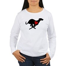 Greyhound Women's LS T-Shirt/Hearthound