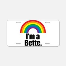 Bette Rainbow Aluminum License Plate