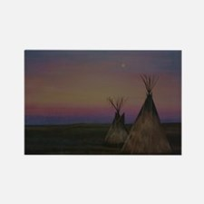 Tepees Rectangle Magnet