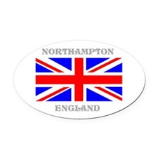 Northampton England Oval Car Magnet