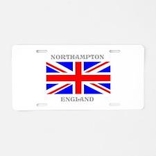 Northampton England Aluminum License Plate