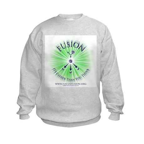 Green on Back Kids Sweatshirt