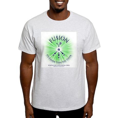 Green on Back Ash Grey T-Shirt