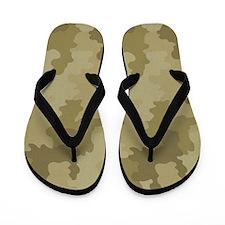 Light Camouflage Flip Flops