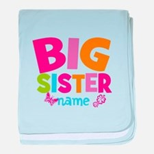 Personalized Name - Big Sister baby blanket