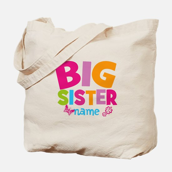 Personalized Name - Big Sister Tote Bag