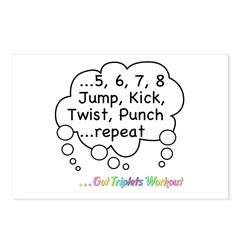 The Triplets Workout Postcards (Package of 8)