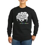 Triplets Workout Under This Long Sleeve Dark T-Shi