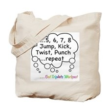 The Triplets Workout Tote Bag