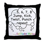 The Triplets Workout Throw Pillow