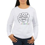 Triplets Workout Under This Women's Long Sleeve T-