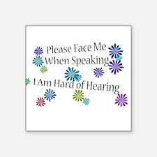 Hard of Hearing Flowers Sticker