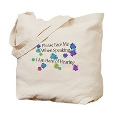 Hard of Hearing Flowers Tote Bag