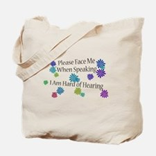 Hard of Hearing Flowers Tote Bag