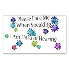 Hard of Hearing Flowers Decal