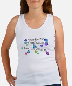 Hard of Hearing Flowers Tank Top