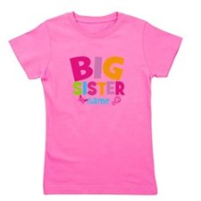 Personalized Name - Big Sister Girl's Tee