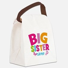 Personalized Name - Big Sister Canvas Lunch Bag