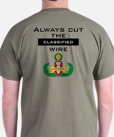 """Cut the """"Classified"""" wire T-Shirt"""