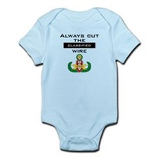 "Cut the ""Classified"" wire Infant Bodysuit"
