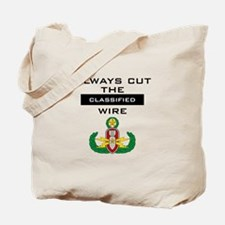 """Cut the """"Classified"""" wire Tote Bag"""