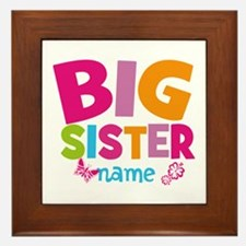 Personalized Name - Big Sister Framed Tile