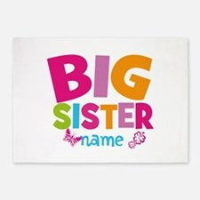 Personalized Name - Big Sister 5'x7'Area Rug