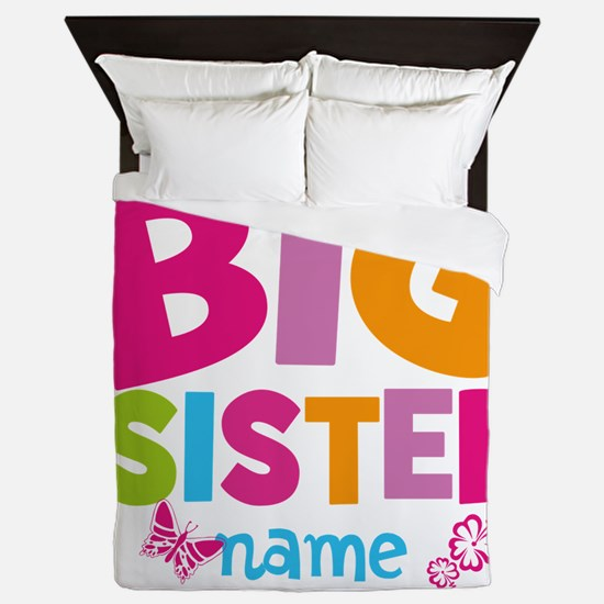Personalized Name - Big Sister Queen Duvet