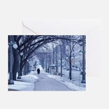 Snowy City Street Greeting Cards (Pk of 10)