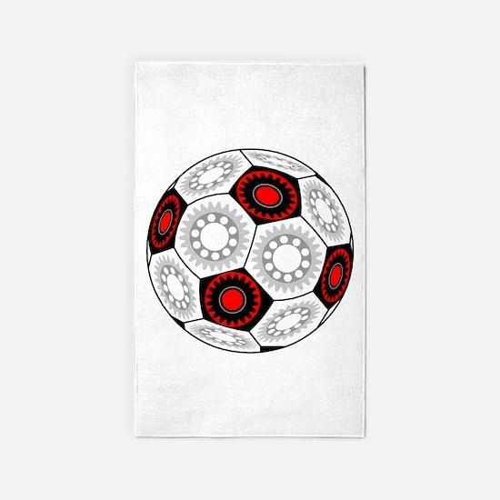Mechanical Soccer 3'x5' Area Rug