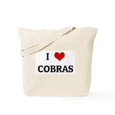 I Love COBRAS Tote Bag