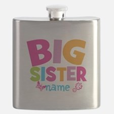 Personalized Name - Big Sister Flask