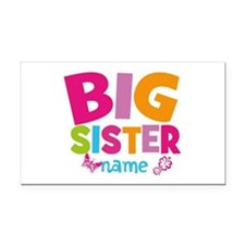 Personalized Name - Big Sister Rectangle Car Magne