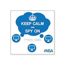 """NSA Motto Square Sticker 3"""" x 3"""""""
