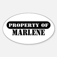 Property of Marlene Oval Decal