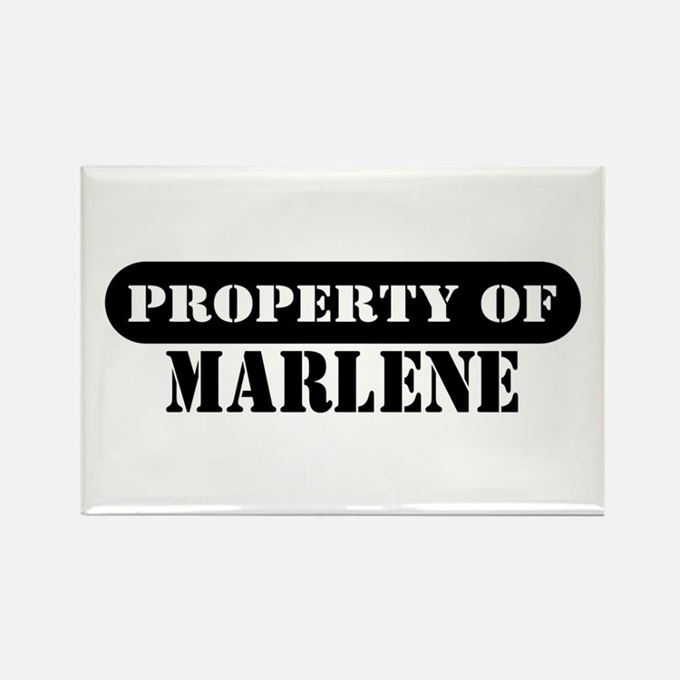 Property of Marlene Rectangle Magnet