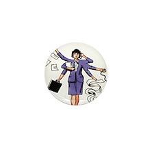 Multi-Tasking Woman Mini Button