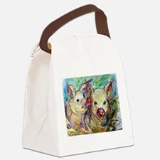 piglets, pig pair Canvas Lunch Bag