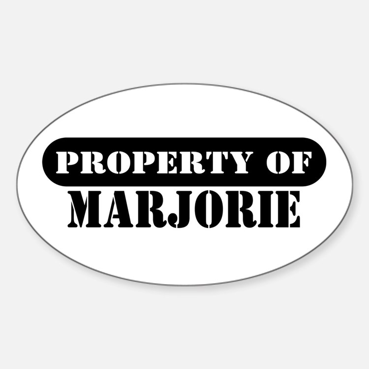 Property of Marjorie Oval Decal