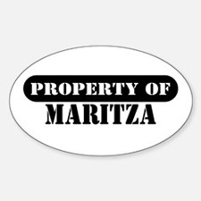 Property of Maritza Oval Decal