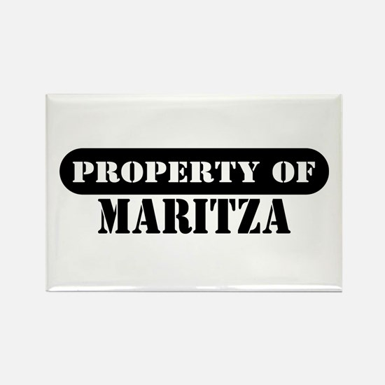 Property of Maritza Rectangle Magnet