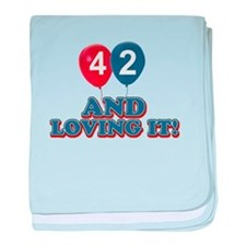 42 and loving it designs baby blanket