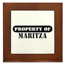 Property of Maritza Framed Tile