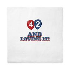 42 and loving it designs Queen Duvet
